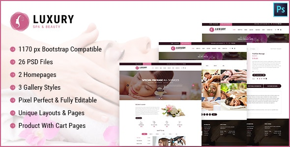 Luxury Spa and Beauty Html Template - Site Templates