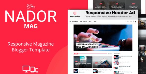 NadorMag - Responsive News & Magazine Blogger Template - Blogger Blogging