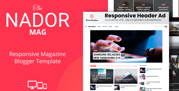 Download NadorMag - Responsive News & Magazine Blogger Template