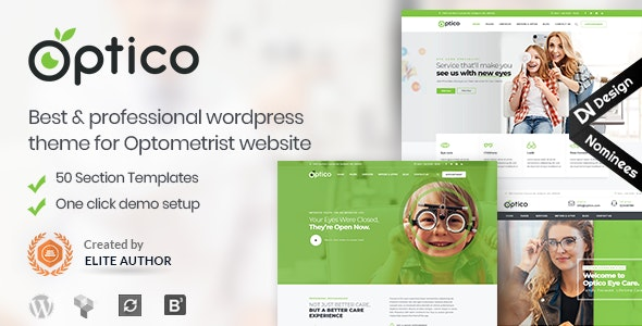 Optico | Optometrist & Eyecare WordPress Theme - Health & Beauty Retail