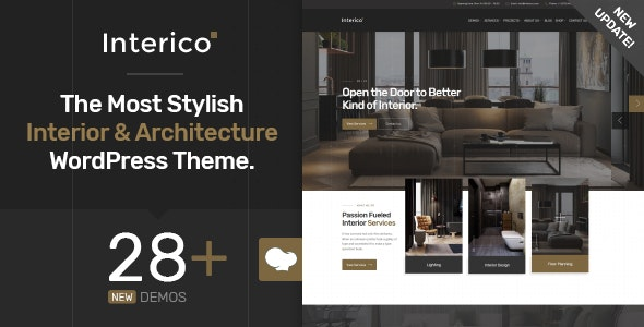Interico - Interior Design & Architecture WordPress Theme - Business Corporate