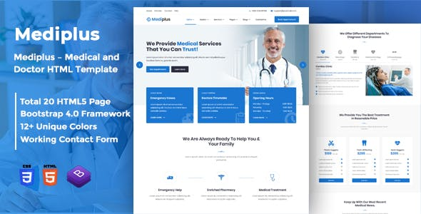 Mediplus – Medical and Doctor HTML Template