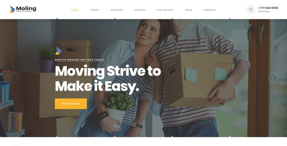 Moling - Moving and Storage Services HTML Template