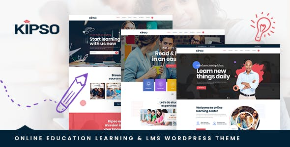 Download Kipso - Education LMS WordPress Theme