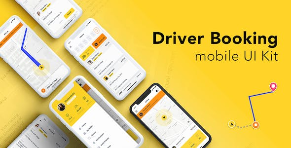Driver Booking UI Kit for Adobe XD