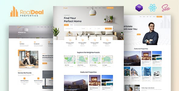Realdeal – Modern Real Estate React JS template