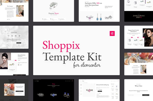 Shoppix - Luxury & Jewellery Shop Elementor Template Kit - Shopping & eCommerce Elementor