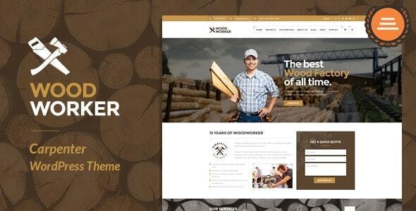 WoodWorker - Carpenter Handy Service WordPress Theme - Business Corporate