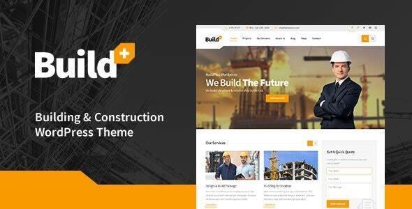 BuildPlus - Engineering Construction Building WordPress Theme - Business Corporate