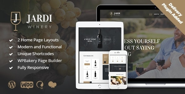 Jardi | Winery, Online Delivery Vineyard & Wine Shop WordPress Theme - Business Corporate