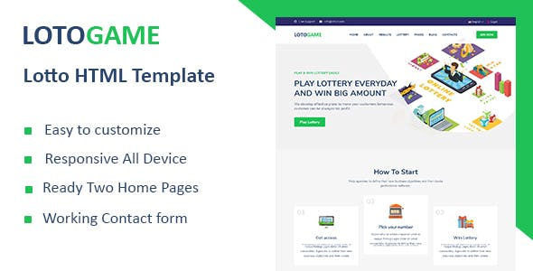 LotoGame - Digital Lotto & Lottery HTML Template