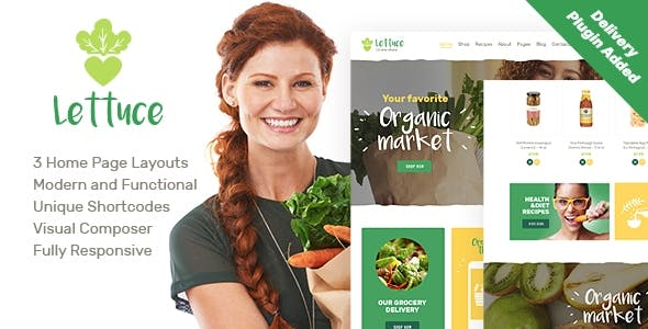 Lettuce | Organic Food & Eco Online Store Products WordPress Theme