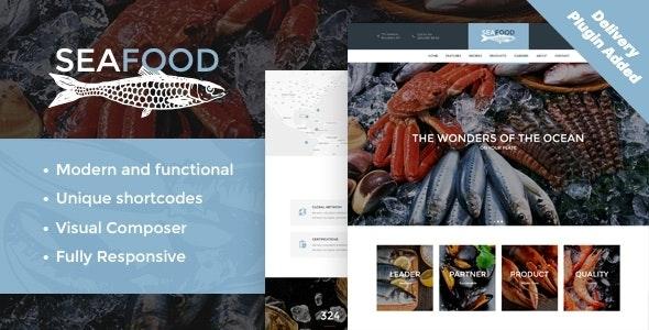Seafood Company & Fish Restaurant WordPress Theme - Food Retail