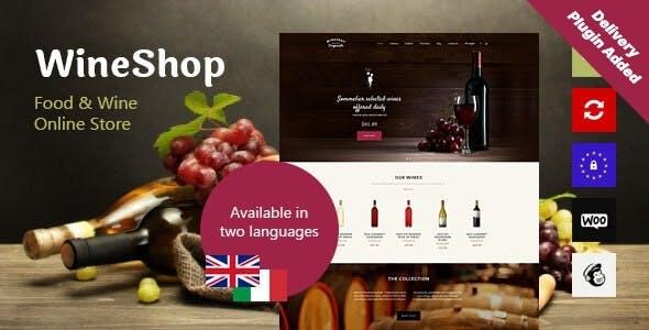 WineShop - Food & Wine Online Delivery Store WordPress Theme
