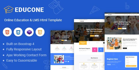 Educone - Education and LMS Html Template