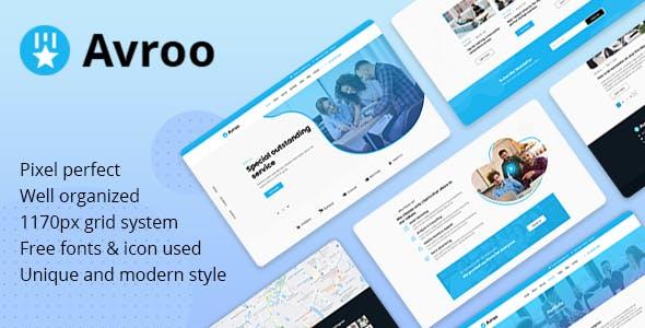 Avroo - Creative Multipurpose PSD Template