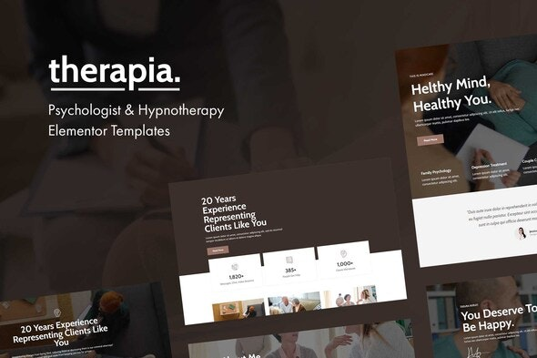 Therapia - Psychologist & Hypnotherapy Elementor Templates - Health & Medical Elementor