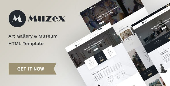 Muzex - Museum & Exhibition HTML Template - Nonprofit Site Templates