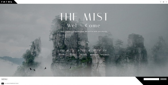 The Mist || Responsive Coming Soon Page - Under Construction Specialty Pages