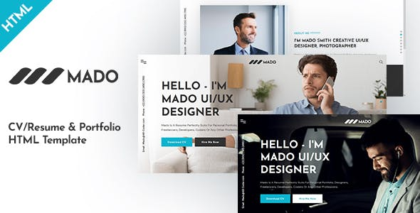 Download Mado - CV/Resume & Portfolio HTML Template
