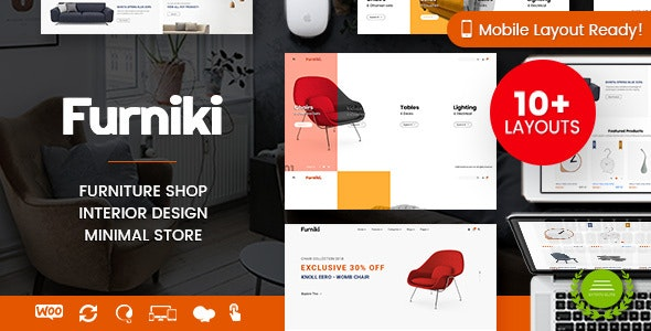 Furniki - Furniture Store & Interior Design WordPress WooCommerce Theme (Mobile Layout Ready) - WooCommerce eCommerce