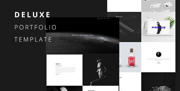 Deluxe-Creative Portfolio Template - Virtual Business Card Personal
