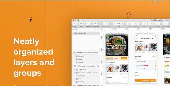 Fozzi - Food Ordering UI Kit for Adobe XD