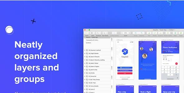 EasyGo - Travel App UI Kit for Figma