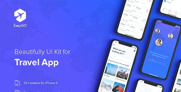 EasyGo - Travel App UI Kit for Adobe XD