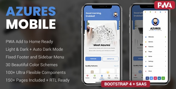 Azures | Mobile Template & PWA - Mobile Site Templates