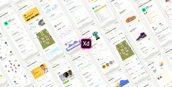 Liga – Soccer mobile app for Adobe XD