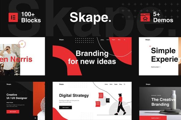 Skape - Digital Agency Business Elementor Template Kit - Creative & Design Elementor