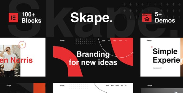Skape - Creative Digital Agency Business Elementor Template Kit