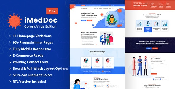 iMedDoc: Medical Center, Health and Wellness HTML5 Template - Health & Beauty Retail