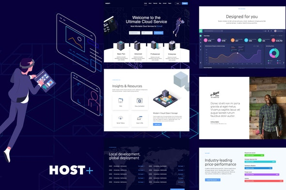 Hostplus - Hosting Services Template Kit - Technology & Apps Elementor