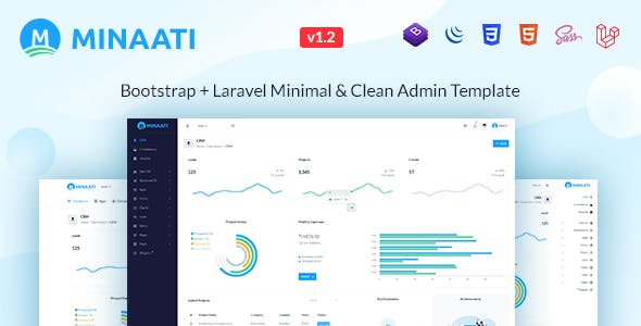 Minaati - Bootstrap + Laravel Minimal & Clean Admin Template