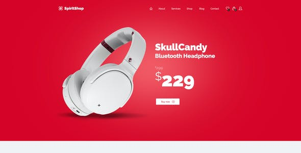 SpiritApp - eCommerce, Website & App Landing Page PSD Template Pack