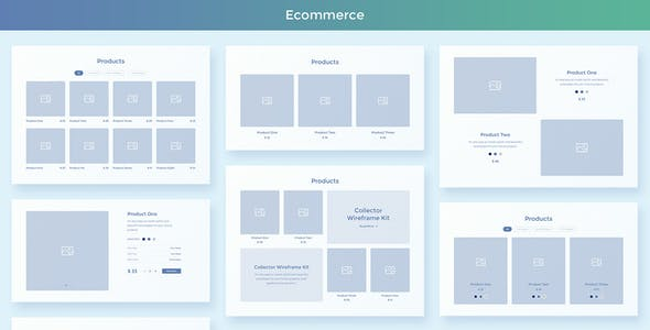 Collector – Web Wireframe UI Kit for AdobeXD