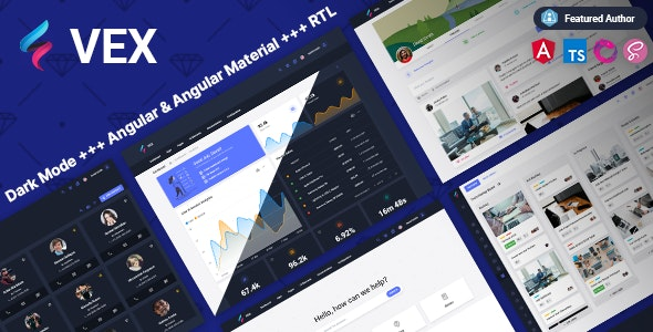 Vex - Angular 11+ Material Design Admin Template - Admin Templates Site Templates
