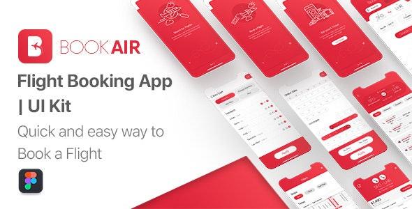 BookAir - Figma UI Kit for Mobile App - Travel Retail