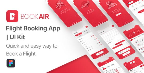 BookAir - Figma UI Kit for Mobile App