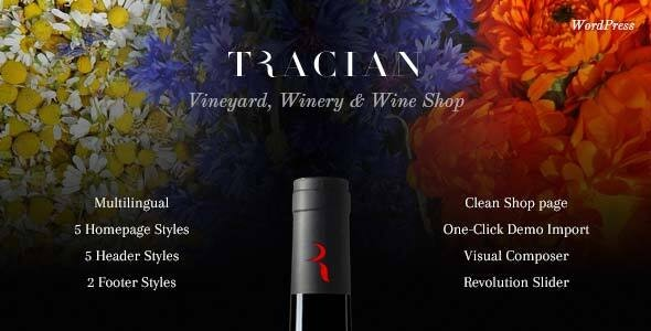 Tracian - Wine WordPress Theme - Food Retail