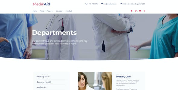 MedikAid   Medical Healthcare Elementor Template Kit