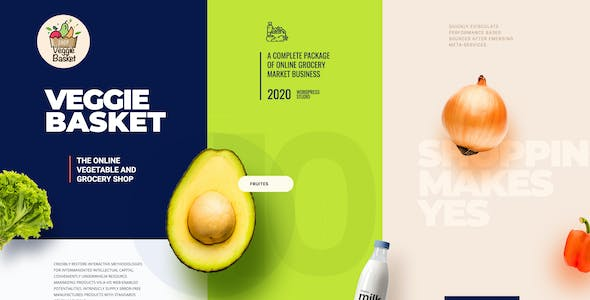 VeggieBasket | A Online Vegetable, Fish, Meat, Dairy Product and Winemakers PSD Template