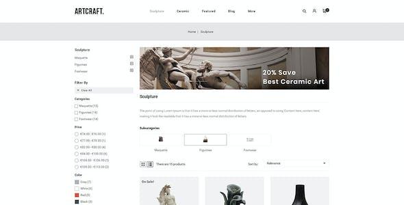 ArtCraft - Multipurpose Prestashop 1.7 Responsive Theme