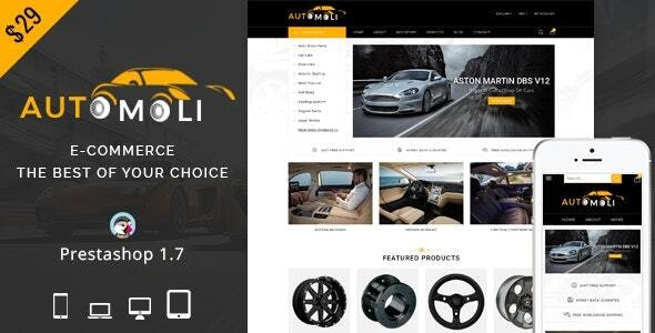 Automoli - Responsive Prestashop 1.7 Theme - Fashion PrestaShop