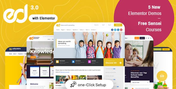 Ed School: Education WordPress Theme