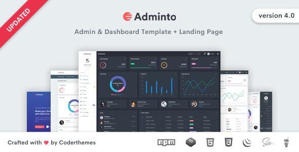 Adminto - Admin Dashboard Template - Admin Templates Site Templates