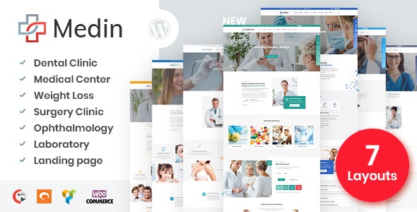 Medin - Medical Center WordPress Theme - Health & Beauty Retail
