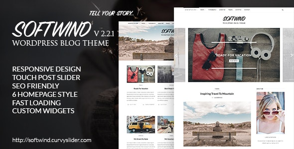 SoftWind - SEO Friendly WordPress Blog Theme - Personal Blog / Magazine